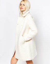 Monki Double Breasted Coat 60'S Coat White