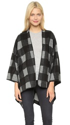 Glamorous Check Blanket Cardigan Black Grey Check