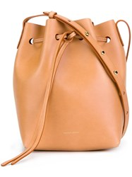 Mansur Gavriel Mini Bucket Bag Nude Neutrals