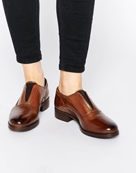 Ravel Chunky Leather Flat Shoes Brown