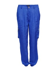 Morgan Satin Look Harem Style Trousers Blue