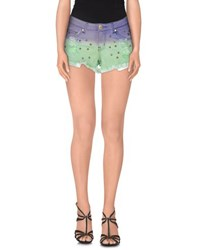 Reverse Denim Denim Shorts Women Light Green