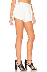 Endless Rose Lace Up Short White
