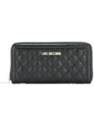 Love Moschino Quilted Wallet Black