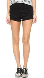 One Teaspoon Harlet High Waisted Shorts Le Black