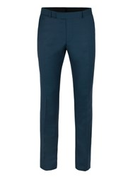 Ben Sherman Men's Teal Pick And Pick Camden Trousers Teal
