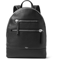 Mulberry Pebble Grain Leather Backpack Black