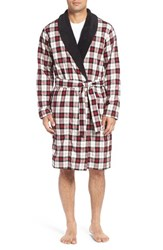 Uggr Men's Ugg 'Kalib' Cotton Robe Plaid Timeless Red
