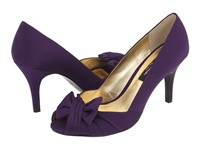 Nina Forbes Grape Luster Satin Women's Slip On Dress Shoes Purple