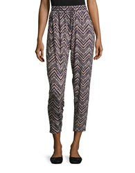 Design Lab Lord And Taylor Chevron Knit Pants Lavender