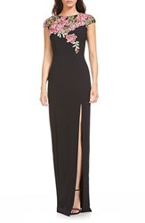 Theia Women's Lace And Crepe Gown