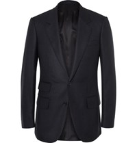 Kingsman Blue Slim Fit Cashmere Blazer Navy