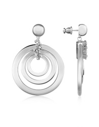 A Z Collection Silver Plated Drop Earrings