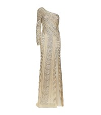 Jovani Embellished One Shoulder Gown Female Cream