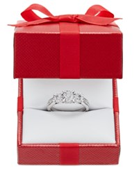 Trumiracle Diamond Three Stone Ring 1 Ct. T.W. In 14K White Or Yellow Gold White Gold