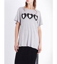 Wildfox Couture Call Me Boo Jersey T Shirt Ghost Pink Heather