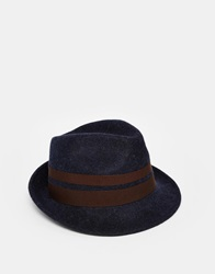 Catarzi Trilby Hat Navy