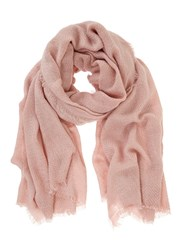 Mint Velvet Rose Plain Textured Scarf Pink