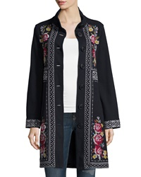 Johnny Was Joy Embroidered Military Coat Women's