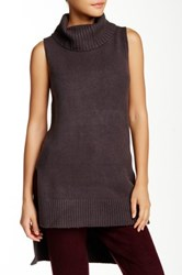 Romeo And Juliet Couture Sleeveless Turtleneck Sweater Gray