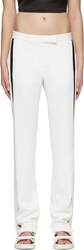 Dion Lee Ivory And Black Linear Loop Trousers