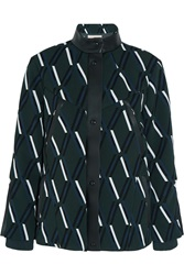 Tod's Leather Trimmed Padded Crepe Jacket