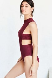 Out From Under Some Side Action Bodysuit Maroon