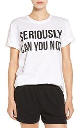 Missguided Women's Graphic Tee White