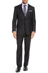 Hart Schaffner Marx Men's Big And Tall Chicago Classic Fit Solid Wool Suit Charcoal