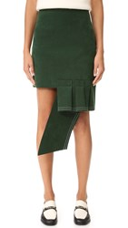 Jacquemus Volant Horizontal Mini Skirt Green