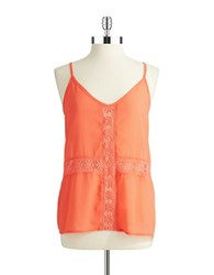 Romeo And Juliet Couture Crocheted Tank Coral