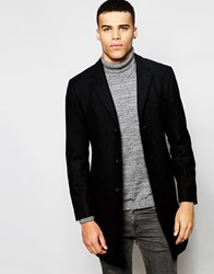 Esprit Wool Overcoat Black