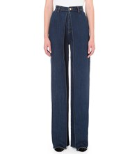 Aalto Pleated Loose Fit High Rise Jeans 90S Blue