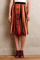 Blank South Congress Pleated Skirt Multi