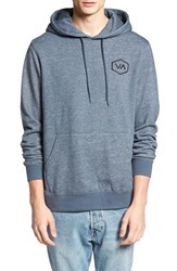 Rvca Men's 'Hex Va' Embroidered Hoodie Midnight