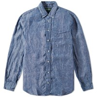 Gitman Brothers Vintage Gitman Vintage Linen Chambray Shirt Blue