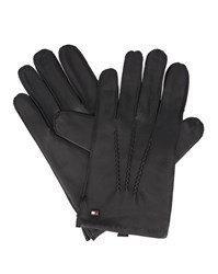 Tommy Hilfiger Brown Lined Leather Gloves