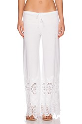 Nightcap Embroidered Drawstring Pant White
