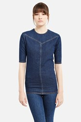 Y Project Front Hem Detail Top Washed Navy