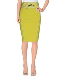 Gaetano Navarra Skirts Knee Length Skirts Women Acid Green