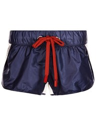 No Ka' Oi Navy And Silver Foil Honi Shorts Grey