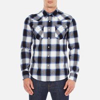 Levi's Men's Barstow Western Shirt Ferula Dress Blues