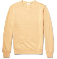 Hartford Loopback Slub Cotton Jersey Sweatshirt Pastel Yellow