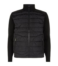 Ralph Lauren Padded Down Front Knit Jacket Male Black