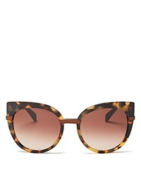 Marc By Marc Jacobs Cat Eye Sunglasses 54Mm Spotted Havana Brown Gradient