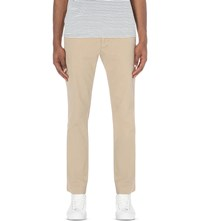 Ralph Lauren Newport Slim Fit Tapered Cotton Trousers Khaki