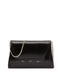 Vbh Manila 30 Snakeskin Shift Clutch Bag Black