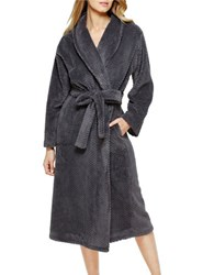 Eileen West Ballet Wrap Long Sleeve Robe Grey