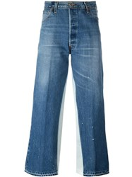 Re Done Cropped Jeans Blue