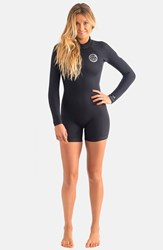Junior Women's Rip Curl 'Dawn Patrol' Long Sleeve Wetsuit Black